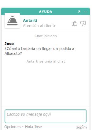 Chat de antarti.com . Tus opiniones cuentan